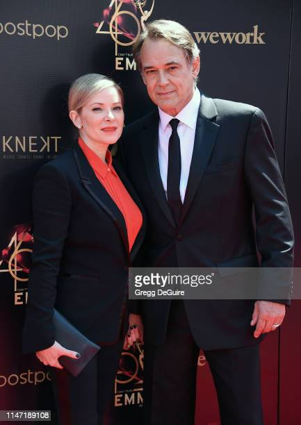 Cady McClain and Jon Lindstrom attend the 46th annual Daytime Emmy Awards at Pasadena Civic Center on May 05 2019 in Pasadena California