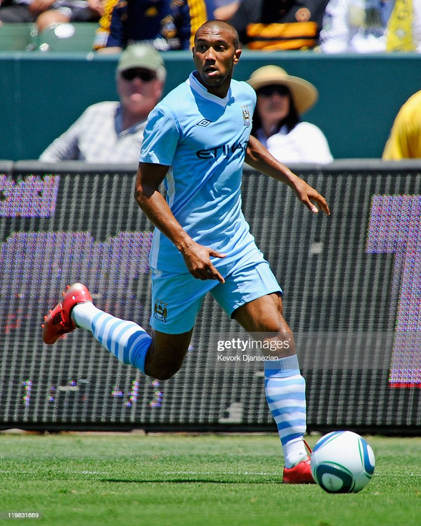 Cael Clichy #22 of Manchester City against Los Angeles during the Herbalife World Football Challenge 2011 at the Home Depot Center on July 24, 2011 in Carson, California.