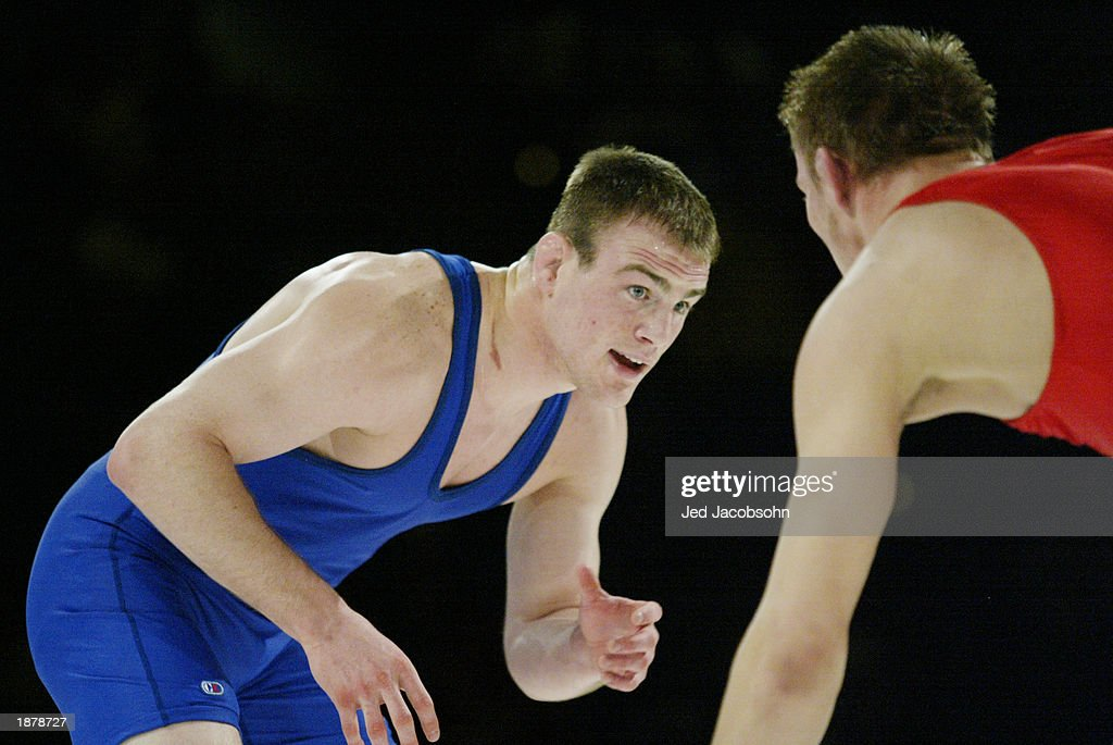 Cael Sanderson competes during the Titan Games at the Events