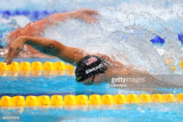 Caeleb Remel Dressel of the United States competes during the Men's 50m Freestyle final on day sixteen of the Budapest 2017 FINA World Championships...