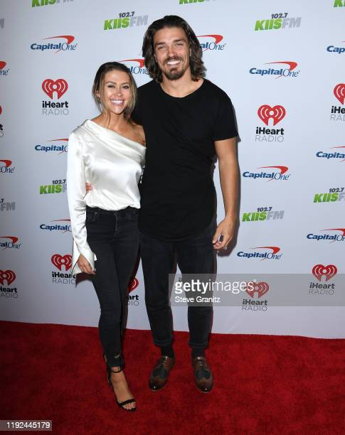 Caelynn MillerKeyes and Dean Unglert arrives at the KIIS FM's Jingle Ball 2019 Presented By Capital One At The Forum at The Forum on December 06 2019...