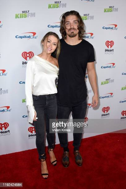 Caelynn MillerKeyes and Dean Unglert attend 1027 KIIS FM's Jingle Ball 2019 Presented by Capital One at the Forum on December 6 2019 in Los Angeles...