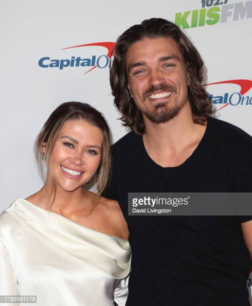 Caelynn MillerKeyes and Dean Unglert attend KIIS FM's Jingle Ball 2019 presented by Capital One at The Forum on December 06 2019 in Inglewood...