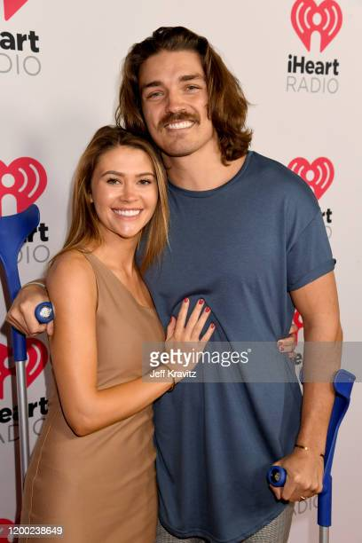 Caelynn MillerKeyes and Dean Unglert attend the 2020 iHeartRadio Podcast Awards at the iHeartRadio Theater on January 17 2020 in Burbank California