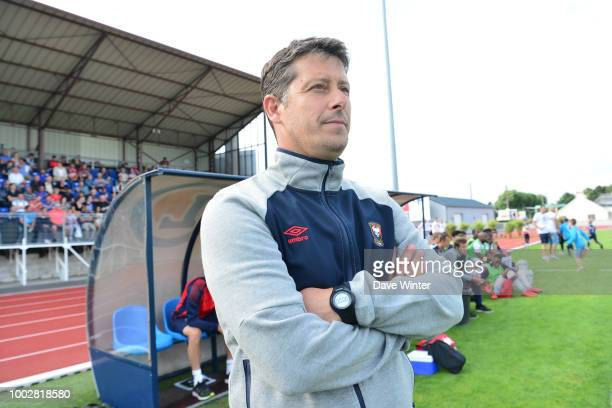Caen coach Fabien Mercadal during the preseason friendly match for the Trophee des Normands between Caen and Le Havre on July 20 2018 in Vire France