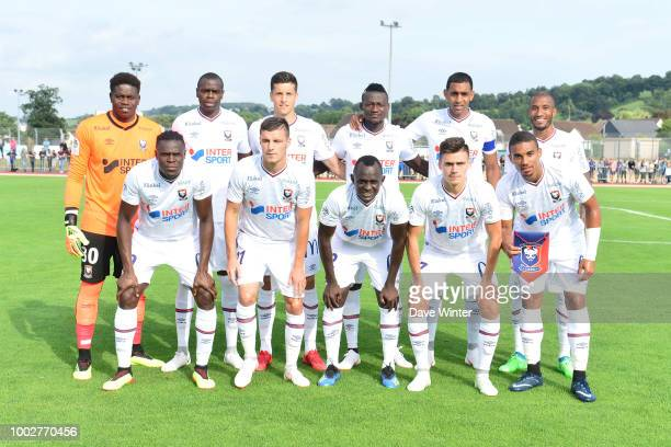 Caen pose before the preseason friendly match for the Trophee des Normands between Caen and Le Havre on July 20 2018 in Vire France