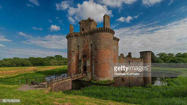 Caerlaverock Castle dating from the 13th century, near Dumfries, Dumfries and Galloway, Scotland, United Kingdom, Europe.