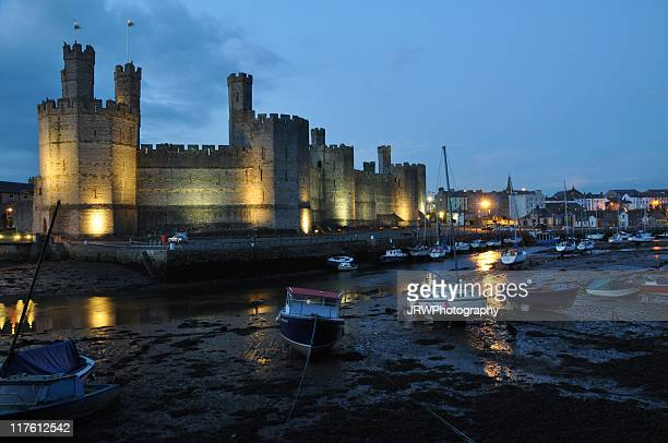 Caernarfon Castle at night