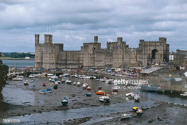 Caernarfon castle Wales built by Edward I of England United Kingdom
