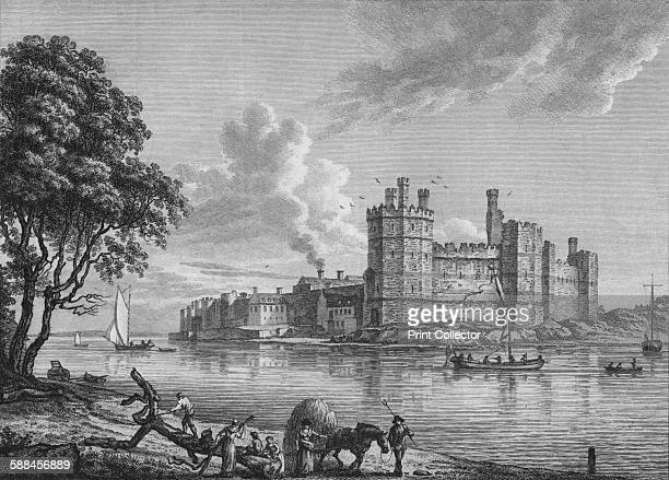 Caernarvon Castle' 1778 Caernarfon Castle Gwynedd Wales Caernarfon Castle one of the 'iron ring' surrounding Snowdonia built in the late 13th and...