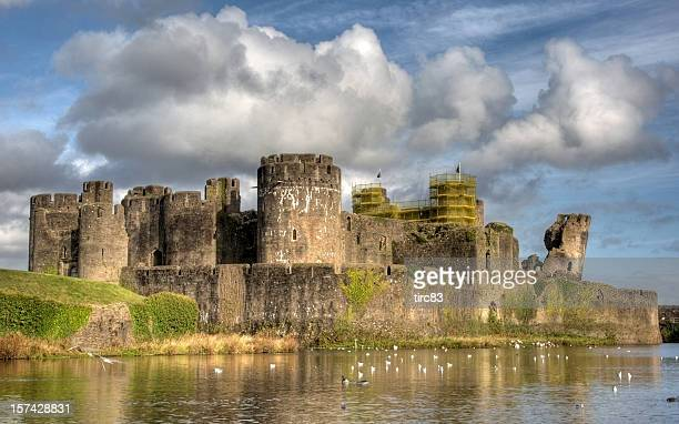 Caerphilly Castle clouds