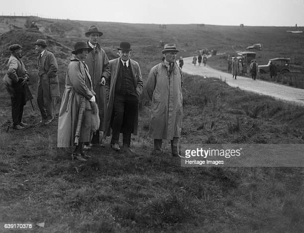 Caerphilly Hillclimb. Date: 28.6.22. Sir William Graham. And Ald. S.F. Forsdyke. Artist Bill Brunell.