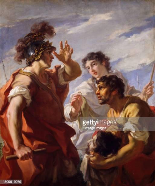 Caesar Before Alexandria, 1724-25. Depicting scene of Julius Caesar before the Siege of Alexandria Artist Giovanni Antonio Pellegrini. .