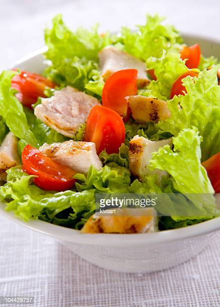 caesar salad - green salad stock pictures, royalty-free photos & images