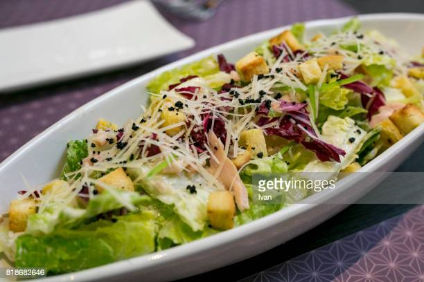 caesar salad - romaine lettuce stock photos and pictures