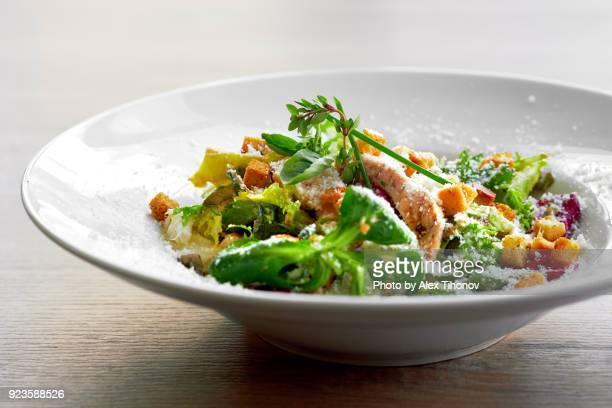 caesar salad - ready to eat stock pictures, royalty-free photos & images