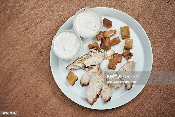 Caesar Salad With Chicken from the Cheesecake Factory in studio at The Washington Post via Getty Images in Washington DC on August 19 2015