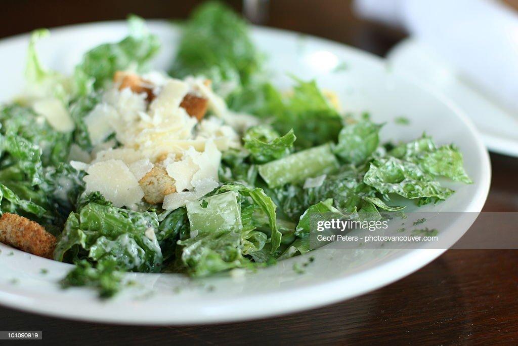 Caesar salad with parmesan cheese : Stock Photo