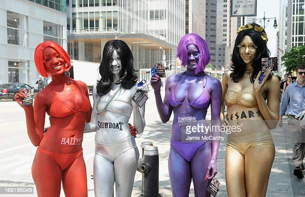 Caesars Entertainment Atlantic City body-painted street team hands out FREE rooms to Caesars, Harrah's Resort, Showboat and Bally's Atlantic City as...