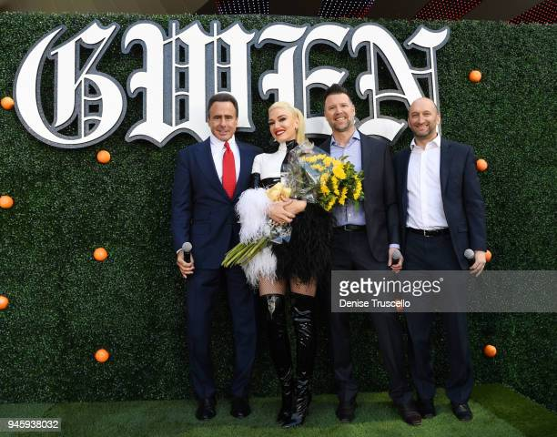 Caesars Entertainment CEO Mark P Frissora singer Gwen Stefani Live Nation Las Vegas President Kurt Melien and Caesars Entertainment President of...