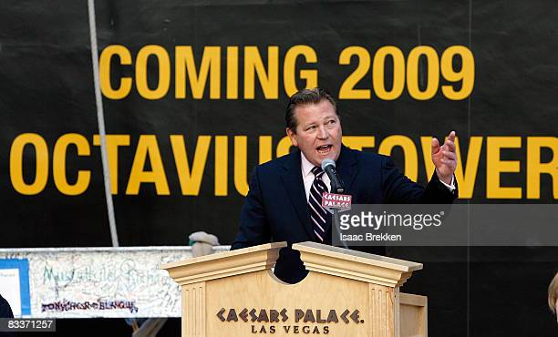 Caesars Palace General Manager John Unwin speaks during a news conference celebrating the topping off of the 23story 665room Octavius Tower at...