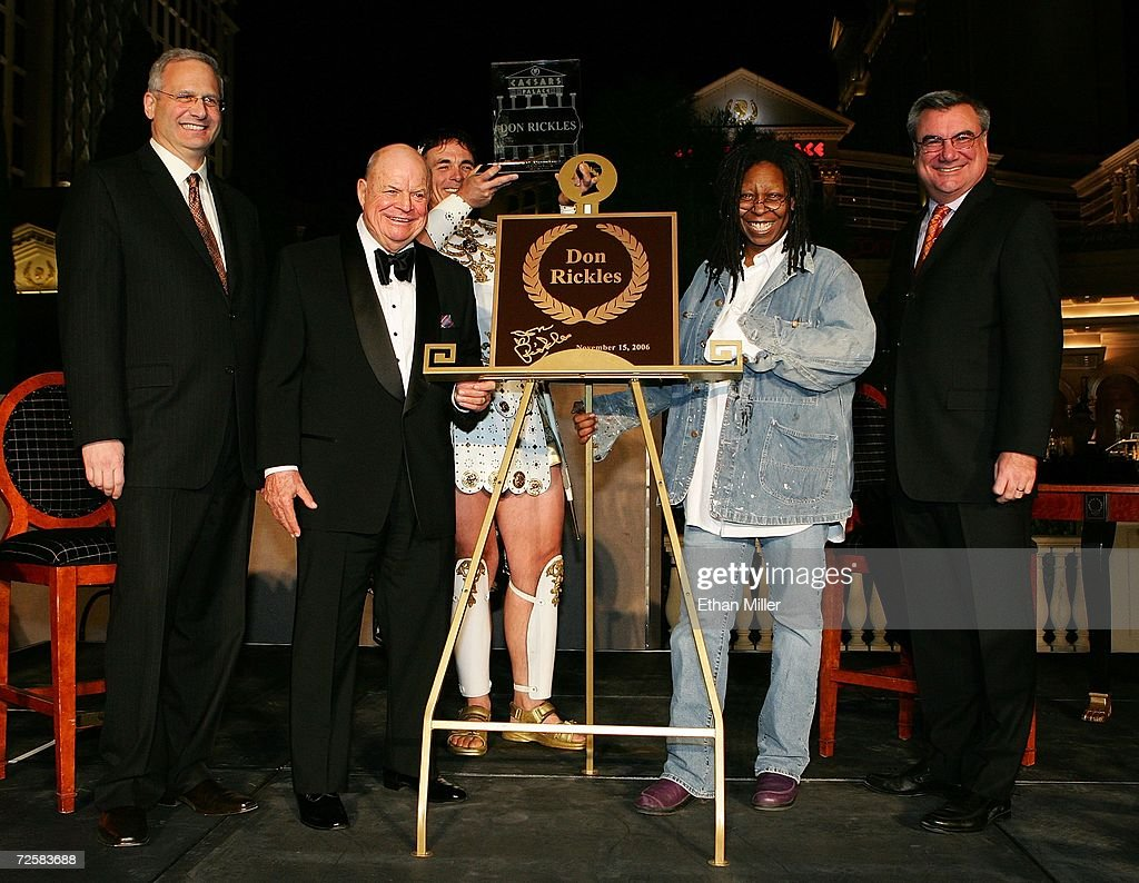 "Don Rickles And Whoopi Goldberg Launch New Caesars Palace Celebrity ""Walk"" : News Photo"