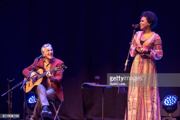 Caetano Veloso and Teresa Cristina perform at the Barbican on April 21 2017 in London England
