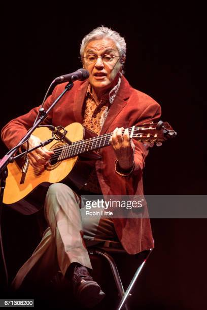 Caetano Veloso performs at the Barbican on April 21 2017 in London England