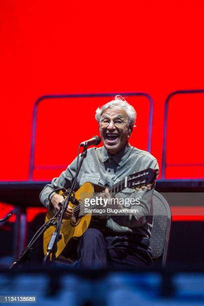 Caetano Veloso performs during the third day of Lollapalooza Buenos Aires 2019 at Hipodromo de San Isidro on March 31 2019 in Buenos Aires Argentina