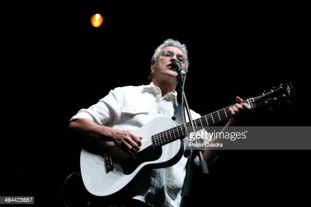 Caetano Veloso performs in concert on May 29 2014 in Madrid Spain