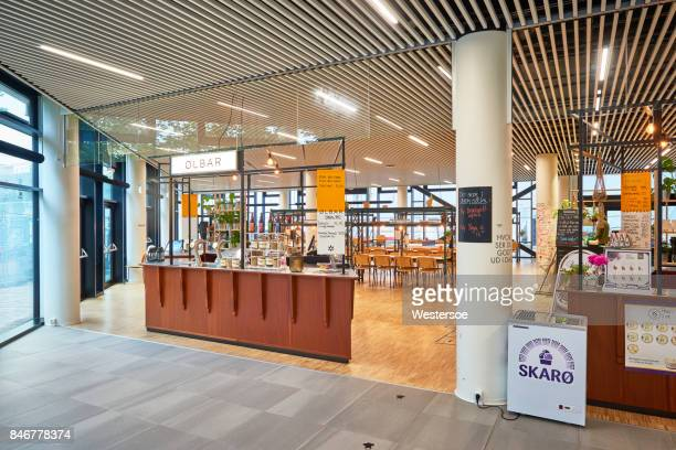 café and restaurantin in odeon concert hall and conference center - concert hall stock pictures, royalty-free photos & images