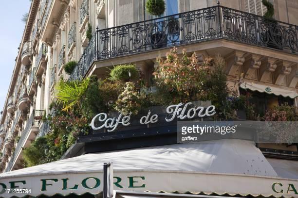 カフェデ flore パリ,フランス - サンジェルマンデプレ ストックフォトと画像
