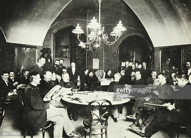 Café Griensteidl The Great Reading Room famous as the meeting place of the literary group 'Young Vienna' 1896 Photograph