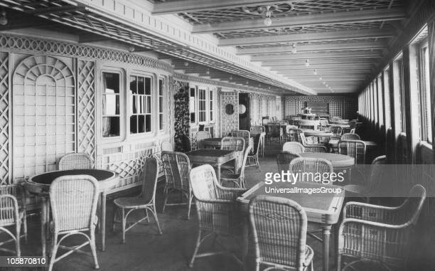 Café Parisien on board RMS Titanic an extension to First Class restaurant 4th January 1912 The White Liner built by Harland Wolff in Belfast left...