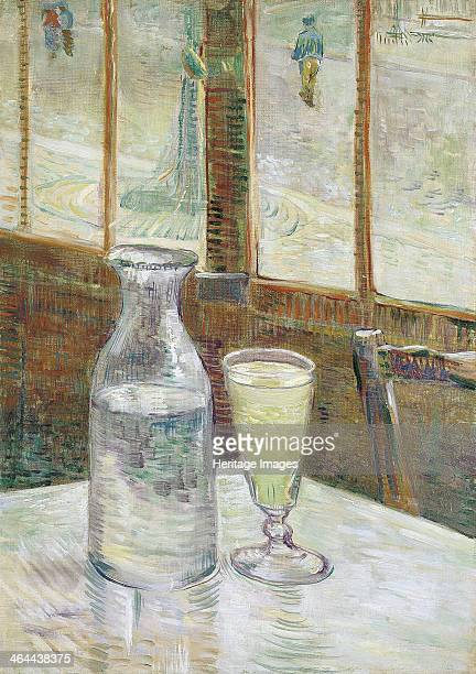 Café table with absinth 1887 Found in the collection of the Van Gogh Museum Amsterdam