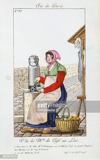 Caféaulait seller 1826 From Arts metiers et Cris de Paris