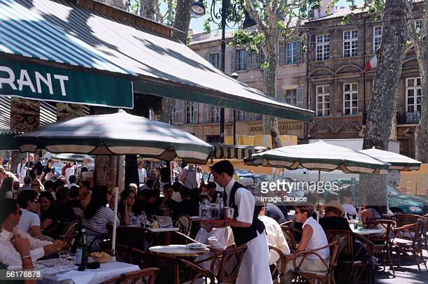 """cafe, aix-en-provence"" - french cafe stock photos and pictures"