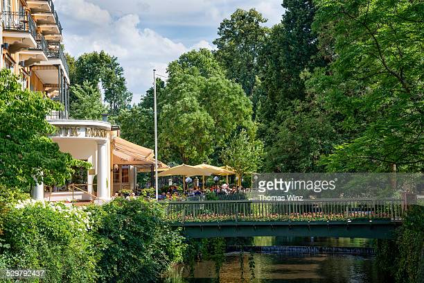 Cafe and Hotel in City Park in Baden Baden