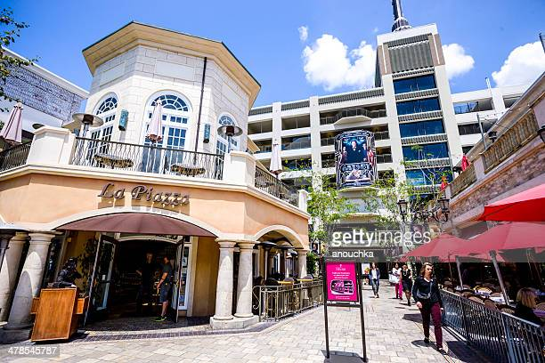 cafe and restaurants at the grove, los angeles - the grove los angeles stock pictures, royalty-free photos & images