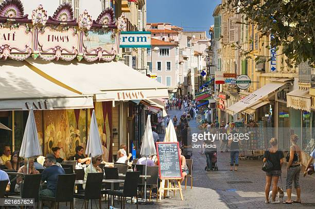 Cafe and Street in Antibes