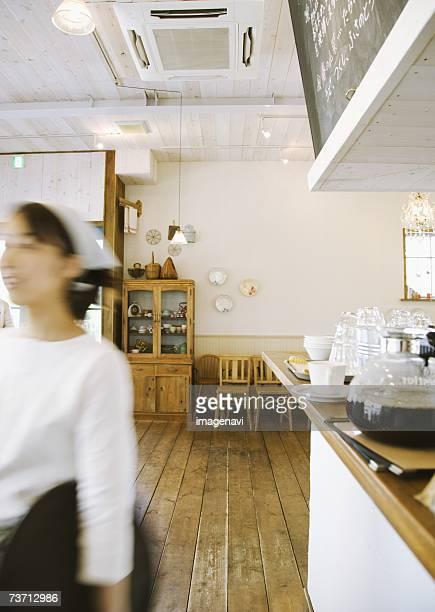 Cafe and waitress