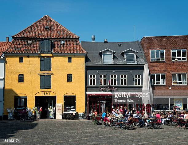 Cafe at a square in the old town of Aarhus