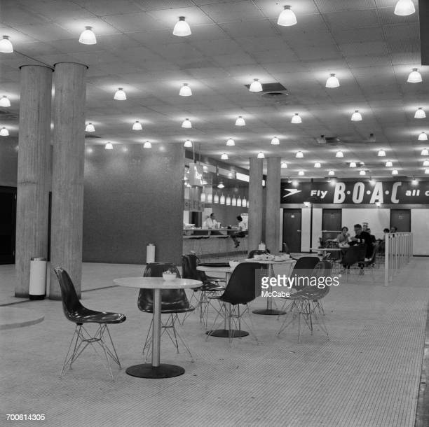 A cafe at Gatwick Airport UK 31st August 1960