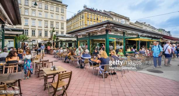 cafe at Naschmarkt Vienna