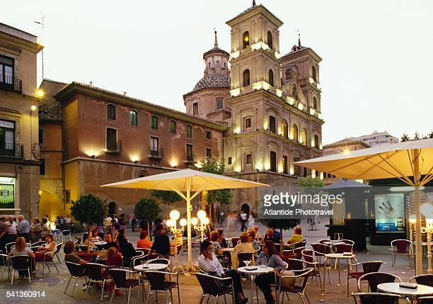 cafe at plaza de santo domingo - murcia - fotografias e filmes do acervo