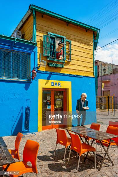 Cafe Bar in La Boca neighborhood of Buenos Aires Argentina.