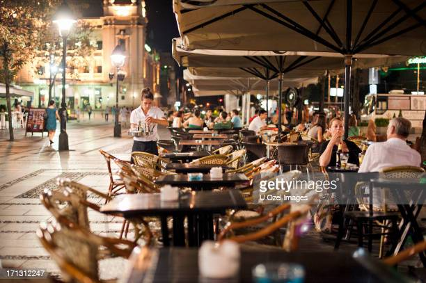 cafe, belgrade  - serbia - belgrade serbia stock pictures, royalty-free photos & images