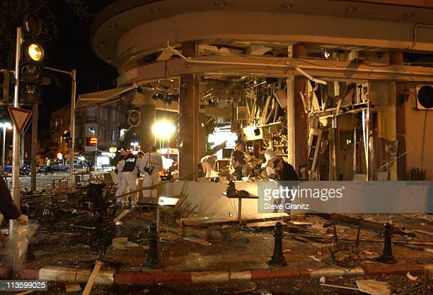 Cafe Bialik suicide bombing in Tel Aviv. 24 injured, 2 of them in critical condition and 5 more in serious condition.