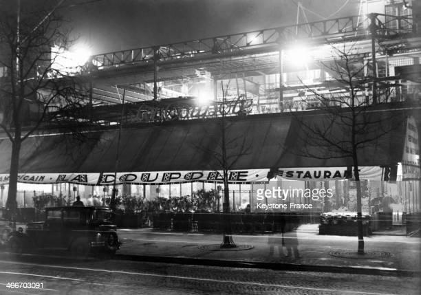 Cafe Brasserie La Coupole in November 1929 in Paris France