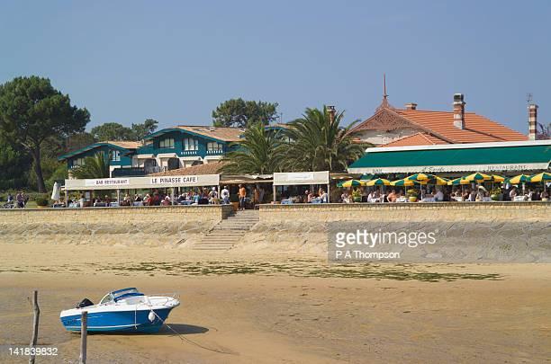Cafe, Cap Ferret, Arcachon Basin, Aquitaine, France